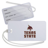 Luggage Tag-Texas State Logo Stacked
