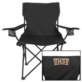 Deluxe Black Captains Chair-TXST Texas State