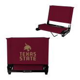 Stadium Chair Maroon-Texas State Logo Stacked