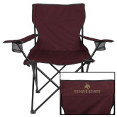 Deluxe Maroon Captains Chair-Texas State Secondary