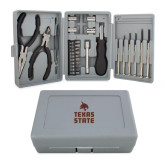 Compact 26 Piece Deluxe Tool Kit-Texas State Logo Stacked