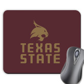 Full Color Mousepad-Texas State Logo Stacked