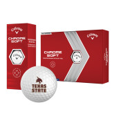 Callaway Chrome Soft Golf Balls 12/pkg-Texas State Logo Stacked