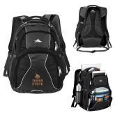 High Sierra Swerve Black Compu Backpack-Texas State Logo Stacked