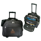 Embassy Plus Rolling Black Compu Brief-Texas State Logo Stacked