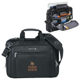 Kenneth Cole Black Vertical Checkpoint Friendly Messenger-Texas State Logo Stacked