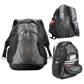 Wenger Swiss Army Tech Charcoal Compu Backpack-Texas State Logo Stacked