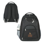 The Ultimate Black Computer Backpack-Texas State Logo Stacked