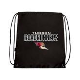 Black Drawstring Backpack-Tucson Roadrunners Stacked