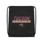 Black Drawstring Backpack-Tuscon Roadrunners - Lines