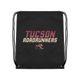 Black Drawstring Backpack-Tuscon Roadrunners - Lines