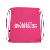 Pink Drawstring Backpack-Tucson Roadrunners