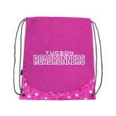 Nylon Pink Bubble Patterned Drawstring Backpack-Tucson Roadrunners