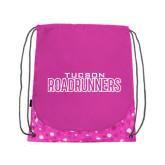Nylon Pink Bubble Patterned Drawstring Backpack-Tucson Roadrunners