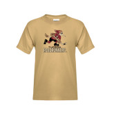 Youth Khaki Gold T Shirt-Official Logo
