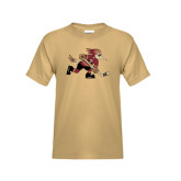 Youth Khaki Gold T Shirt-Mascot