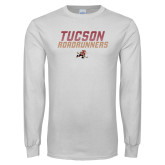 White Long Sleeve T Shirt-Tuscon Roadrunners - Lines