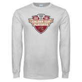 White Long Sleeve T Shirt-Calder Cup Playoffs