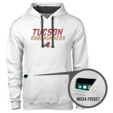 Contemporary Sofspun White Hoodie-Tuscon Roadrunners - Lines