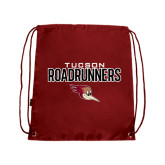 Cardinal Drawstring Backpack-Tucson Roadrunners Stacked
