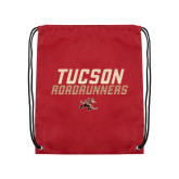 Cardinal Drawstring Backpack-Tuscon Roadrunners - Lines