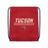 Cardinal Drawstring Backpack-Tuscon Roadrunners - Lines