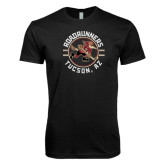 Next Level SoftStyle Black T Shirt-Roadrunners Circle Design