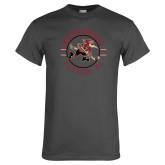 Charcoal T Shirt-Roadrunners Circle Design