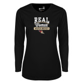 Ladies Syntrel Performance Black Longsleeve Shirt-Real Women Watch Hockey