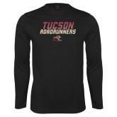 Performance Black Longsleeve Shirt-Tuscon Roadrunners - Lines