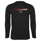 Performance Black Longsleeve Shirt-Go Roadrunners