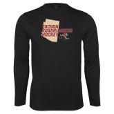 Performance Black Longsleeve Shirt-Tuscon Roadrunners Hockey w/ State