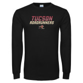 Black Long Sleeve T Shirt-Tuscon Roadrunners - Lines