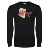 Black Long Sleeve T Shirt-Tuscon Roadrunners Hockey w/ State