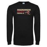 Black Long Sleeve T Shirt-Roadrunners Hockey Stacked