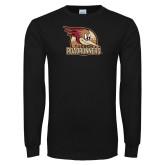 Black Long Sleeve T Shirt-Badge Design