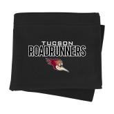Black Sweatshirt Blanket-Tucson Roadrunners Stacked