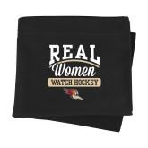 Black Sweatshirt Blanket-Real Women Watch Hockey