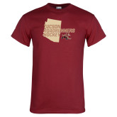 Cardinal T Shirt-Tuscon Roadrunners Hockey w/ State