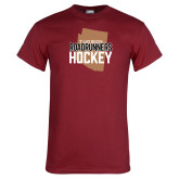 Cardinal T Shirt-Tuscon Roadrunners Hockey w/ State Stacked