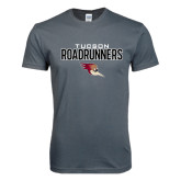 Next Level SoftStyle Charcoal T Shirt-Tucson Roadrunners Stacked