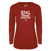 Ladies Syntrel Performance Cardinal Longsleeve Shirt-Real Women Watch Hockey