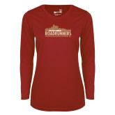 Ladies Syntrel Performance Cardinal Longsleeve Shirt-The Old Pueblo