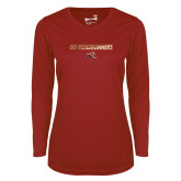 Ladies Syntrel Performance Cardinal Longsleeve Shirt-Go Roadrunners