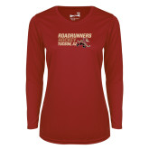 Ladies Syntrel Performance Cardinal Longsleeve Shirt-Roadrunners Hockey Stacked