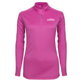 Ladies Syntrel Interlock Raspberry 1/4 Zip-Tucson Roadrunners
