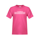 Youth Cyber Pink T Shirt-Tucson Roadrunners