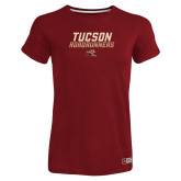 Ladies Russell Cardinal Essential T Shirt-Tuscon Roadrunners - Lines
