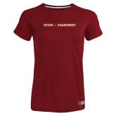 Ladies Russell Cardinal Essential T Shirt-Crossed Hockey Sticks