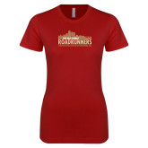 Next Level Ladies SoftStyle Junior Fitted Cardinal Tee-The Old Pueblo